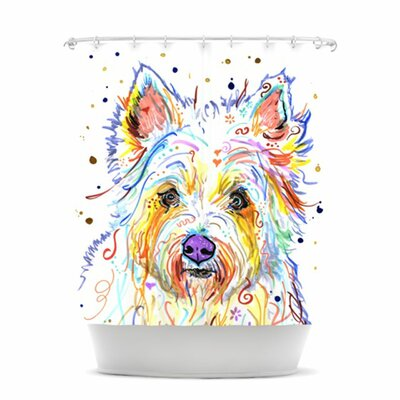 Bella Polyester Shower Curtain