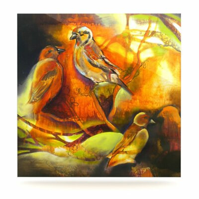 KESS InHouse Reflecting Light by Kristin Humphrey Painting Print Plaque