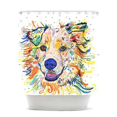KESS InHouse Jess Polyester Shower Curtain