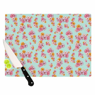 KESS InHouse Paper Flower Cutting Board