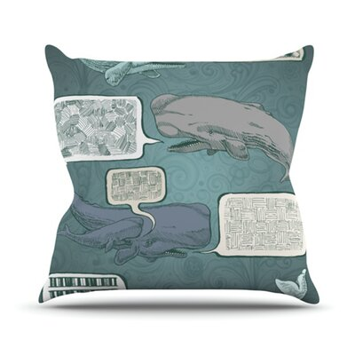 KESS InHouse Whale Talk Throw Pillow