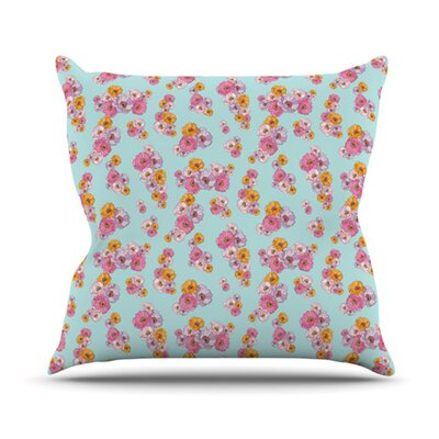 KESS InHouse Paper Flower Throw Pillow