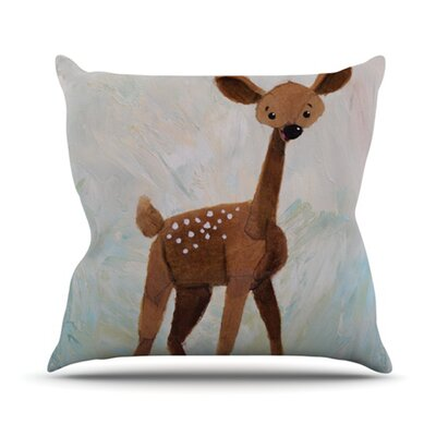 KESS InHouse Oh Deer Throw Pillow