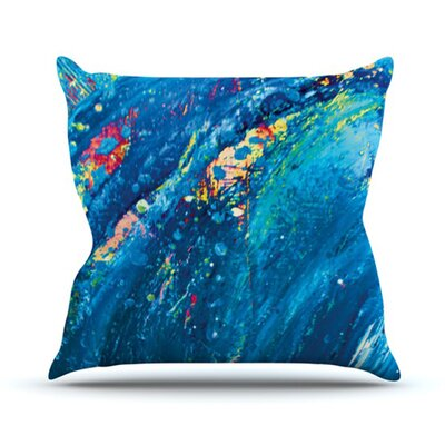 KESS InHouse Big Wave Throw Pillow