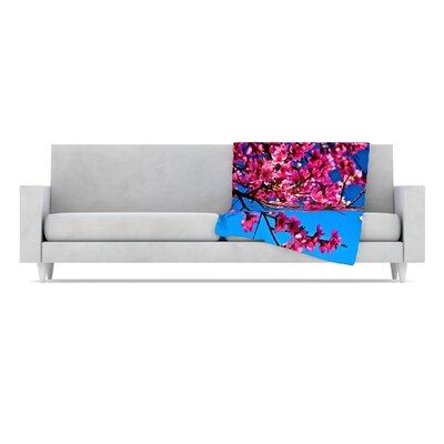 KESS InHouse Flowers Fleece Throw Blanket