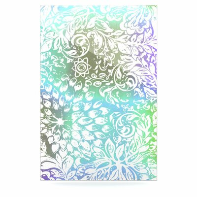 KESS InHouse Blue Bloom Softly for You Floating Art Panel