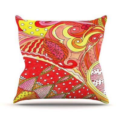 KESS InHouse Swirls Throw Pillow