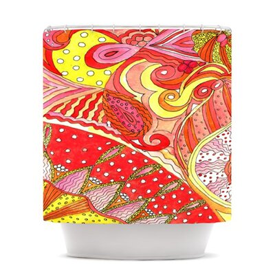 Swirls Polyester Shower Curtain
