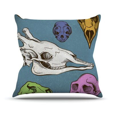 KESS InHouse Skulls Throw Pillow