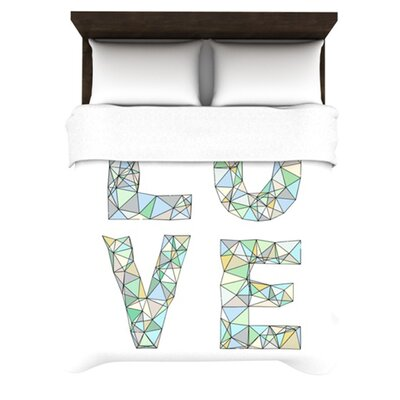 KESS InHouse Four Letter Word Duvet Cover Collection