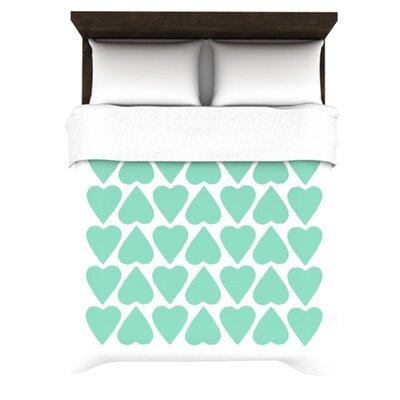 KESS InHouse Up and Down Hearts Duvet Cover Collection