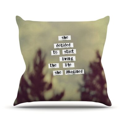 KESS InHouse Her Life Throw Pillow