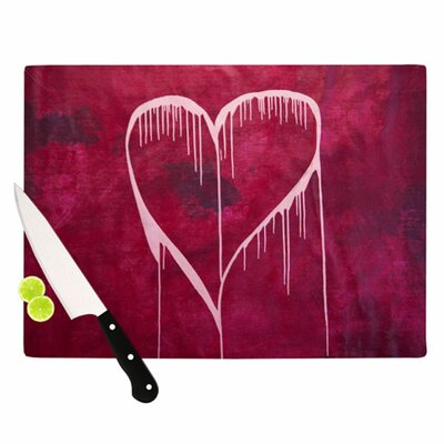 KESS InHouse Miss You Cutting Board