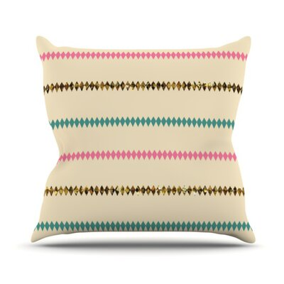 KESS InHouse Diamonds Throw Pillow