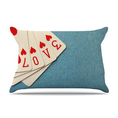 KESS InHouse Love Fleece Pillow Case