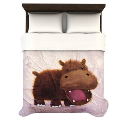 KESS InHouse The Happy Hippo Duvet Cover Collection