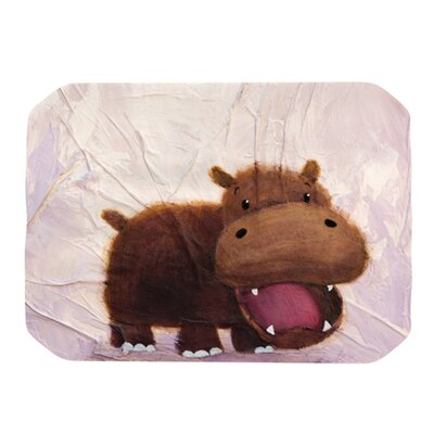 KESS InHouse The Happy Hippo Placemat