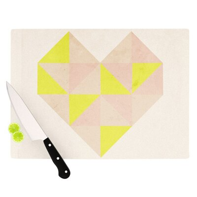 KESS InHouse Geo Heart Cutting Board