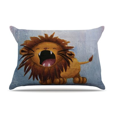 KESS InHouse Dandy Lion Fleece Pillow Case