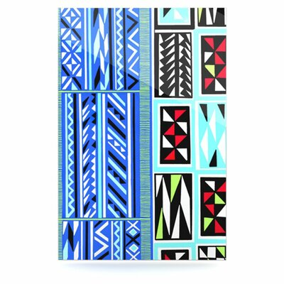 KESS InHouse American Blanket Pattern Floating Art Panel