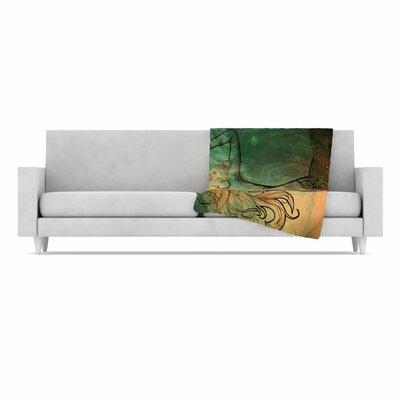 KESS InHouse Poor Mermaid Fleece Throw Blanket