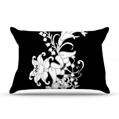 KESS InHouse My Garden Fleece Pillow Case