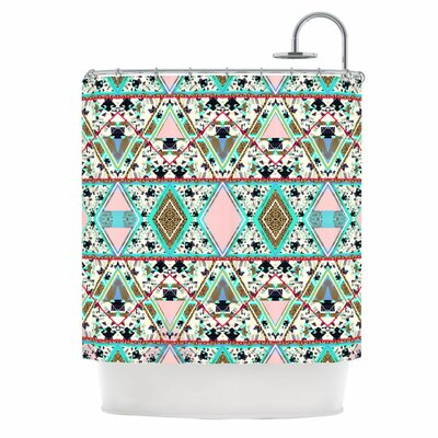 KESS InHouse Deco Hippie Polyester Shower Curtain