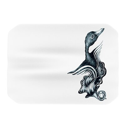 KESS InHouse Swan Horns Placemat