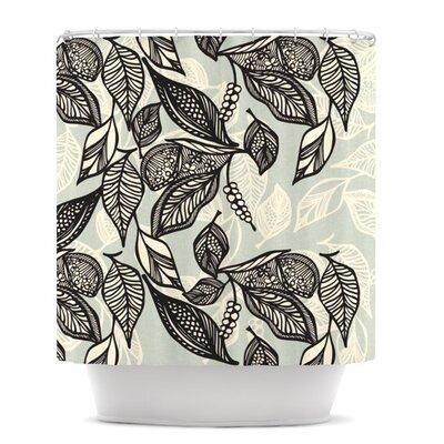 KESS InHouse Java Leaf Polyester Shower Curtain