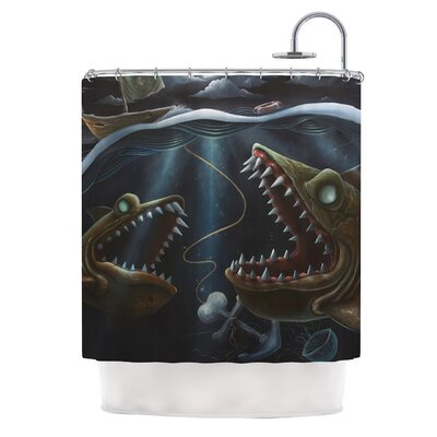 KESS InHouse Sink or Swim Polyester Shower Curtain