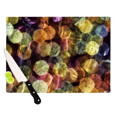 KESS InHouse Warm Sparkle Cutting Board