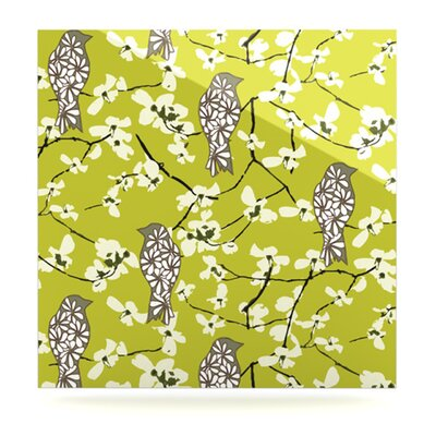 KESS InHouse Blossom Bird Wall Art
