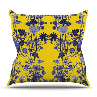 KESS InHouse Bloom Flower Throw Pillow