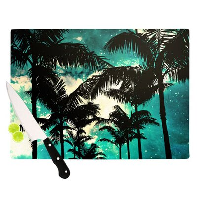 KESS InHouse Palm Trees and Stars Cutting Board