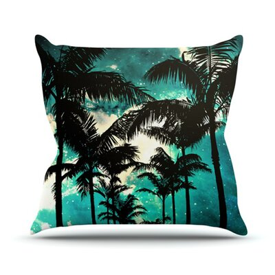 KESS InHouse Palm Trees and Stars Throw Pillow