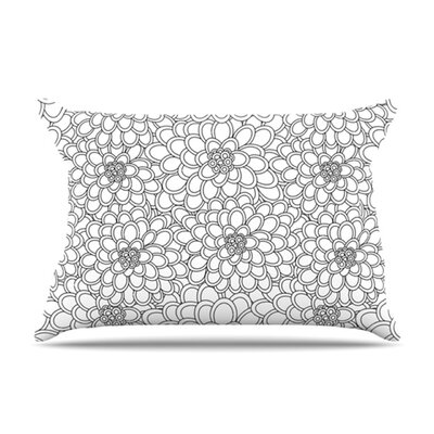 KESS InHouse Flowers Microfiber Fleece Pillow Case