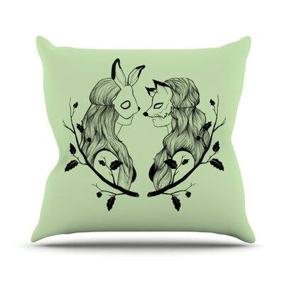 KESS InHouse Foxy Buns Throw Pillow