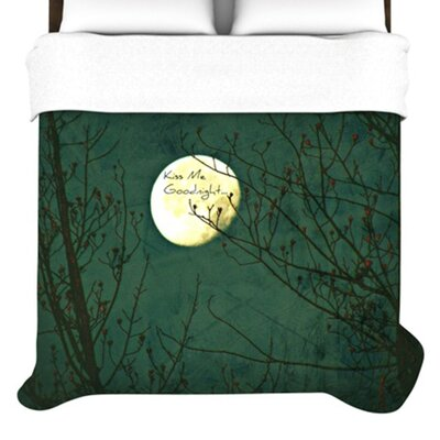KESS InHouse Kiss Me Goodnight Duvet Cover