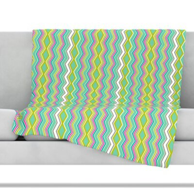 KESS InHouse Chevron Love Fleece Throw Blanket