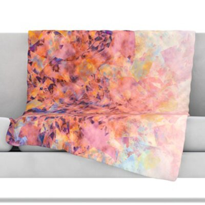 KESS InHouse Blushed Geometric Fleece Throw Blanket