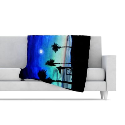 KESS InHouse Carlsbad State Beach Fleece Throw Blanket