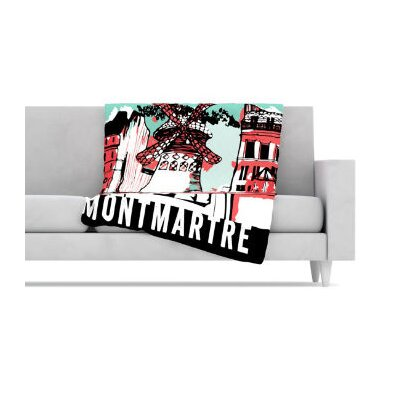 KESS InHouse Montmartre Fleece Throw Blanket