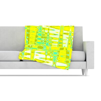 KESS InHouse Changing Gears in Sunshine Fleece Throw Blanket