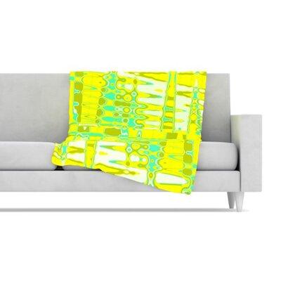 KESS InHouse Changing Gears in Sunshine Fleece Throw Blanket