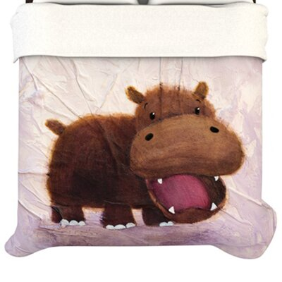 KESS InHouse The Happy Hippo Duvet Cover
