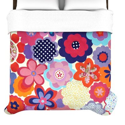 KESS InHouse Patchwork Flowers Duvet Cover