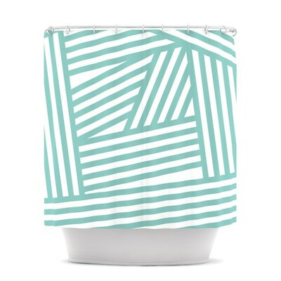 KESS InHouse Stripes Polyester Shower Curtain