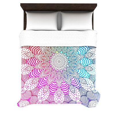 KESS InHouse Rainbow Dots Duvet Cover