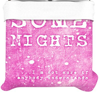KESS InHouse Some Nights Duvet Cover