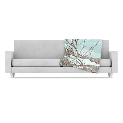 KESS InHouse Winter Trees Fleece Throw Blanket